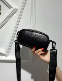 Fashion Black Letter Broadband Shoulder Crossbody Bag
