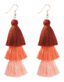 Fashion Brown Fringed Color Earrings