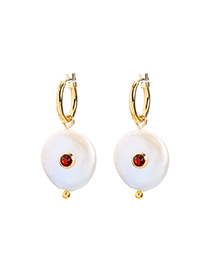 Fashion Gold Freshwater Pearl Earrings