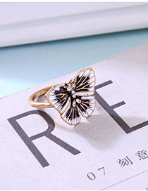 Fashion Butterfly Butterfly Drop Glazed Diamond Ring