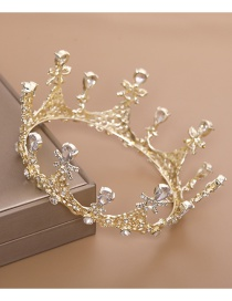Fashion Gold Zircon Full Circle Crown