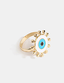 Fashion Synaptic Eye Alloy Drop Oil Ring