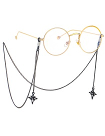 Fashion Black Hanging Neck Six-pointed Star Chain