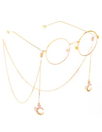 Fashion Gold Non-slip Metal Crown Angel Moon Glasses Chain