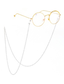 Fashion Silver Stainless Steel O Word Chain Color Protection Non-slip Glasses Chain