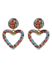 Fashion Color Love Diamond Stud Earrings