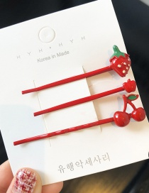 Fashion Strawberry Group (3) Fruit Hair Clip