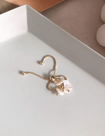 Fashion Gold Natural Freshwater Pearl Drawstring Ring