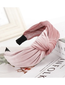 Fashion Bean Paste Knotted Gold Velvet Wide-brimmed Fabric Headband