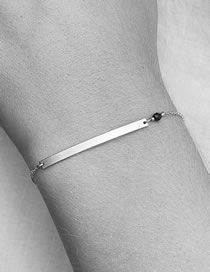 Fashion Steel Color Inline Geometry Stainless Steel Bracelet