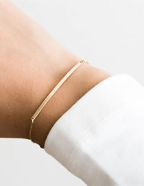 Fashion Gold Geometric Stainless Steel Bracelet