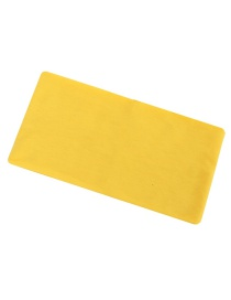 Fashion Yellow Extra Wide Motion Elastic Hair Band