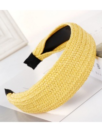 Fashion Flat Yellow Braided Rafah Headband