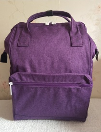 Fashion Purple Scrub Linen Cloth Backpack