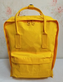 Fashion Yellow Waterproof Canvas Backpack