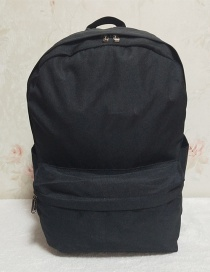 Fashion Black Canvas Backpack