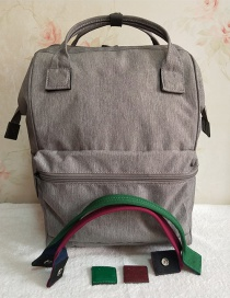 Fashion Light Grey Portable Backpack (accessory Replaceable)