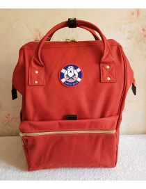 Fashion Red Oxford Cloth Carrying Backpack