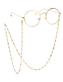 Fashion Gold Copper Cross Bead Chain Chain Glasses Chain