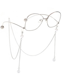 Fashion Silver Chain Hanging Neck Pearl Glasses Chain