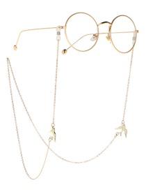 Fashion Gold Metal Swallow Glasses Chain