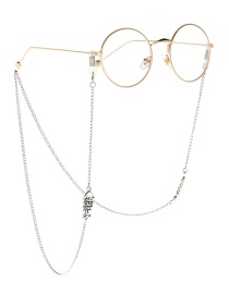 Fashion Silver Fish Bone Girl Glasses Chain