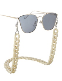 Fashion White Acrylic Glasses Chain