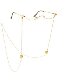 Fashion Golden Lantern Chain Star Zircon Lensless Glasses Frame