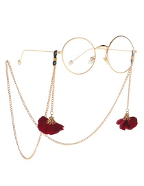 Fashion Gold Metal Eye Safflower Glasses Chain