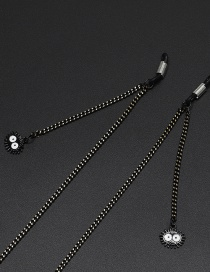 Fashion Black Black Coal Ball Chain Glasses Chain