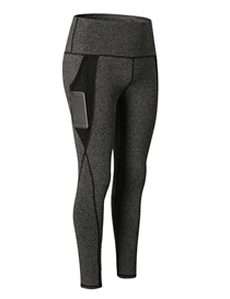 Fashion Colorful Black Pocket Stretch And Quick Dry Yoga Pants