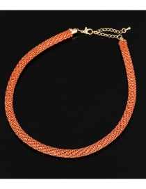 Fashion Red Woven Diamond Necklace