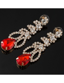 Fashion Red Diamond Earrings