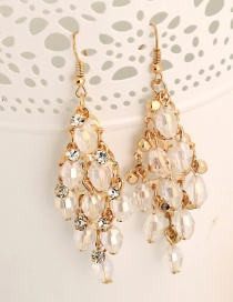 Fashion White Crystal Earrings