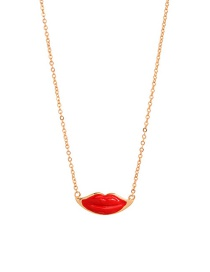 Fashion Red Lip Necklace