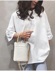 Fashion White Contrast Crossbody Shoulder Bag