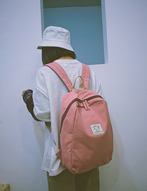 Fashion Pink Solid Color Backpack