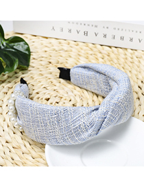 Fashion Blue Pearl Thousands Of Birds Wrap The Wide-brimmed Headband