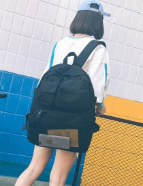 Fashion Black Splicing Mesh Multi-function Backpack