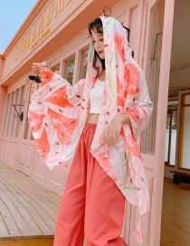 Fashion Color Watermelon Print Tassel Scarf Shawl