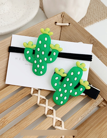 Fashion Cactus Fruit Hair Clip Hair Rope Combination