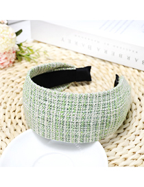 Fashion Green Thousands Of Birds Plaid Wide-brimmed Headband