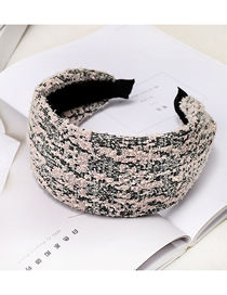 Fashion Korean Pink Wide Side Cloth Woolen Headband