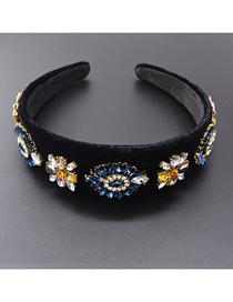 Fashion Blue Flower-studded Headband