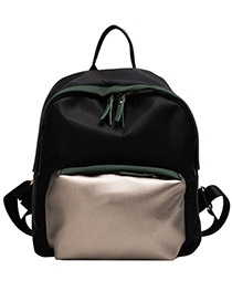Fashion Black Oxford Cloth Anti-theft Backpack