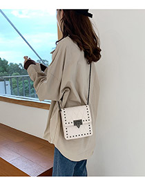 Fashion White Chain Shoulder Messenger Bag