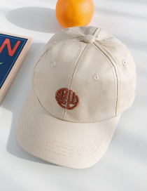 Fashion Blessing Beige Embroidered Children's Baseball Cap