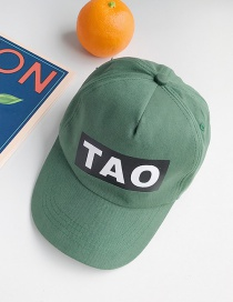 Fashion Tao Dark Green Letter Print Children's Baseball Cap