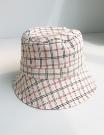 Fashion Small Plaid Beige Plaid Fisherman Hat
