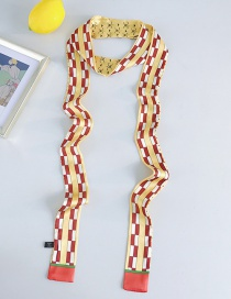 Fashion Yellow Strip Narrow Strips